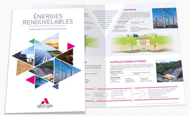 Plaquette énergies renouvelables Albingia