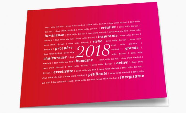 Carte de vœux Albingia 2018