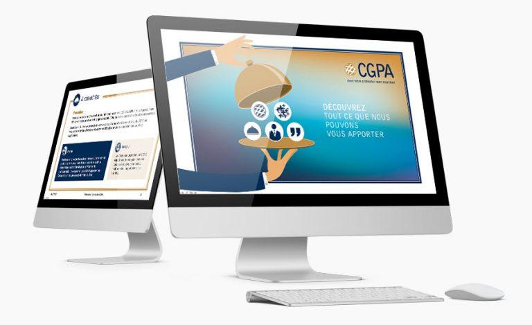 Masque de présentation PowerPoint CGPA