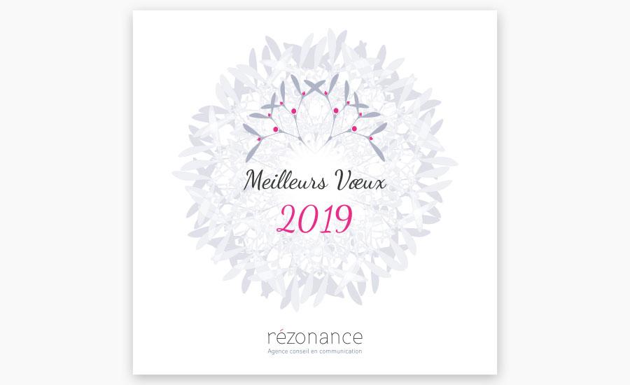 Carte de vœux Rézonance 2020